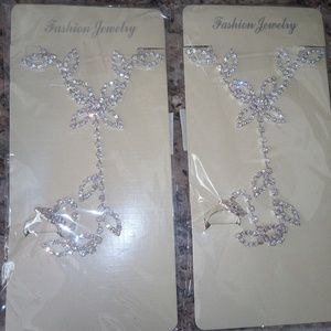 Other - Beach wedding prom barefoot bling sandals new